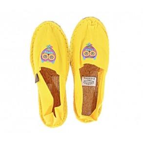 Espadrilles jaune avec écusson T36