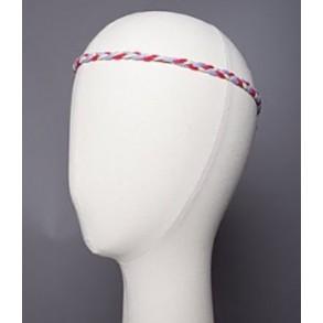 Mini headband tressé maille mousseuse 100% cachemire
