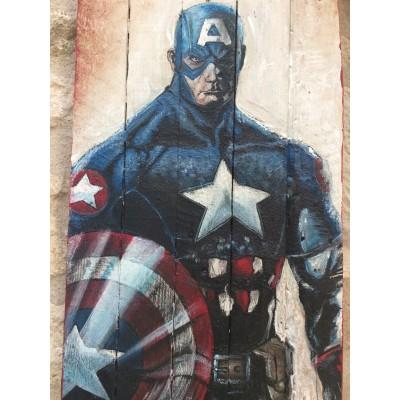 peinture sur palette comics super héros