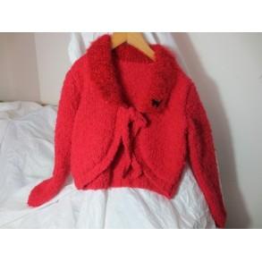 veste moelleuse rouge en 6 ans