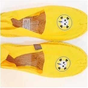 Espadrilles jaune fabriquées en France pointure 39 avec patchs